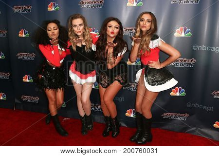 NEW YORK-SEP 9: Little Mix attends the America's Got Talent Season 10 Semi-finals taping at Radio City Music Hall on on September 9, 2015 in New York City.