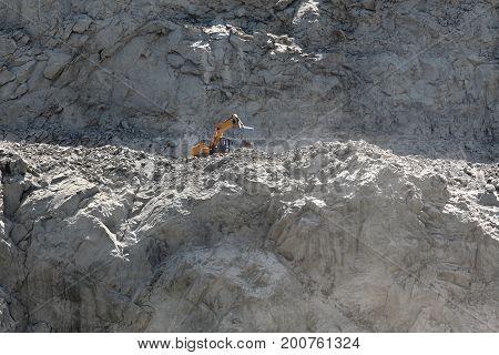 Stones Excavation In Mountain