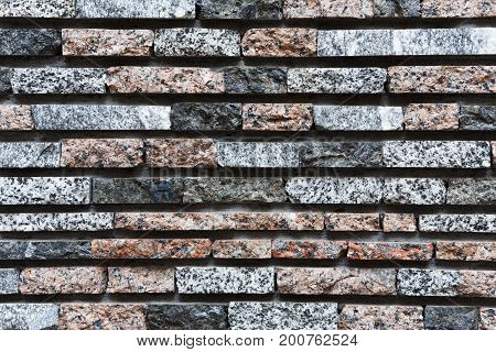 Old vintage brick wall background and texture with copy space