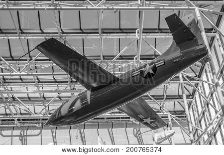 Washington DC, United States of America - August 5, 2017: X-1 Supersonic Aircraft, World's First Aircraft That Exceeded the Speed of Sound, Mach 1, Smithsonian National Air and Space