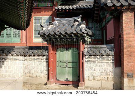 Traditional Korean Doors And Wall