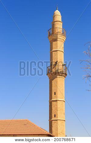 Minaret On The Old Islamic Mosque Mahmoudiya