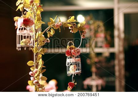 Cage Flowers For Wedding Reception