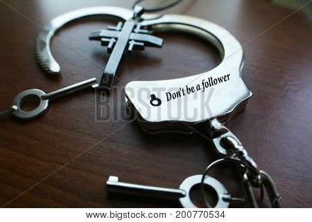 Religious Outlook With Cross & Handcuffs High Quality