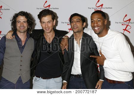LOS ANGELES - AUG 19:  Daniel Hall, Ryan Ashton, Abhi Sinha, Darnell Kirkwood at the Young and Restless Fan Event 2017 at the Marriott Burbank Convention Center on August 19, 2017 in Burbank, CA