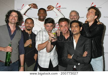 LOS ANGELES - AUG 19:  YnR Men at the Young and Restless Fan Event 2017 at the Marriott Burbank Convention Center on August 19, 2017 in Burbank, CA