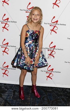 LOS ANGELES - AUG 19:  Alyvia Alyn Lind at the Young and Restless Fan Event 2017 at the Marriott Burbank Convention Center on August 19, 2017 in Burbank, CA