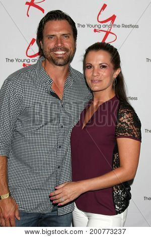 LOS ANGELES - AUG 19:  Joshua Morrow, Melissa Claire Egan at the Young and Restless Fan Event 2017 at the Marriott Burbank Convention Center on August 19, 2017 in Burbank, CA
