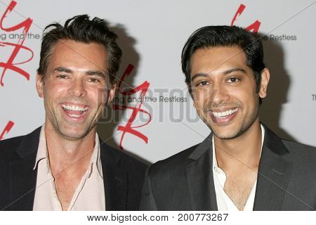 LOS ANGELES - AUG 19:  Jason Thompson, Abhi Sinha at the Young and Restless Fan Event 2017 at the Marriott Burbank Convention Center on August 19, 2017 in Burbank, CA
