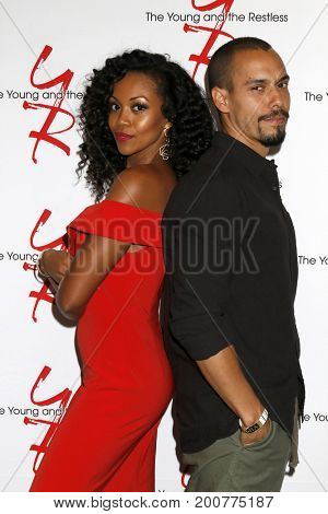 LOS ANGELES - AUG 19:  Mishael Morgan, Bryton James at the Young and Restless Fan Event 2017 at the Marriott Burbank Convention Center on August 19, 2017 in Burbank, CA