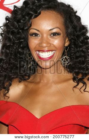 LOS ANGELES - AUG 19:  Mishael Morgan at the Young and Restless Fan Event 2017 at the Marriott Burbank Convention Center on August 19, 2017 in Burbank, CA