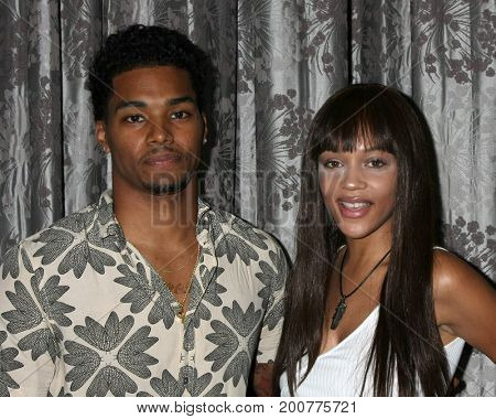 LOS ANGELES - AUG 20:  Rome Flynn, Reign Edwards at the Bold and the Beautiful Fan Event 2017 at the Marriott Burbank Convention Center on August 20, 2017 in Burbank, CA