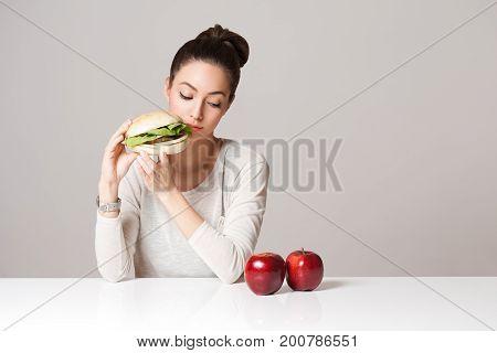 Diet Choices Concept.