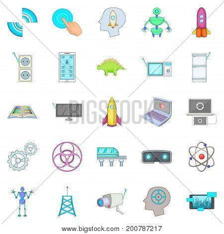 Future generations icons set. Cartoon set of 25 future generations vector icons for web isolated on white background