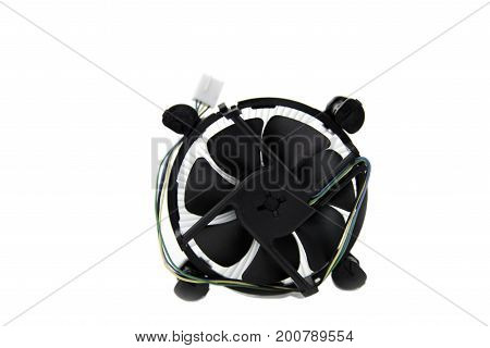 Cooling fan and Heatsink Aluminium isolated on a white background