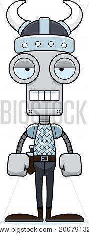 Cartoon Bored Viking Robot