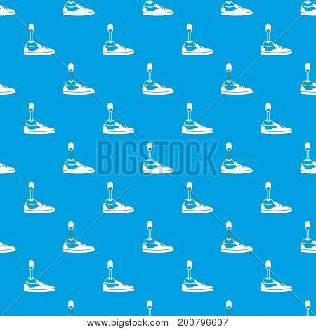 Prosthetic leg pattern repeat seamless in blue color for any design. Vector geometric illustration