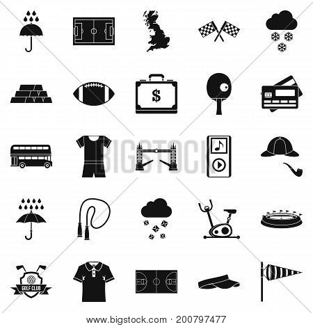 Athletic behavior icons set. Simple set of 25 athletic behavior vector icons for web isolated on white background