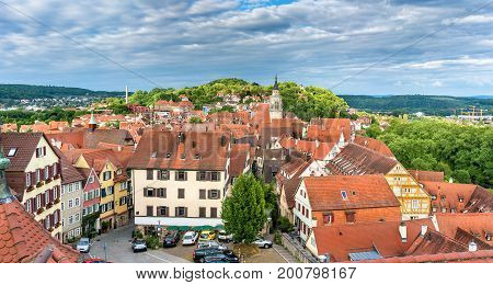 Panorama of the historical center of Tubingen - Baden Wurttemberg, Germany.