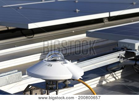 Pyranometer of Solar PV System installing close to PV panels