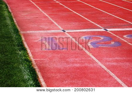Track lines for running race competition