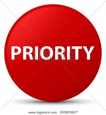 Priority Red Round Button