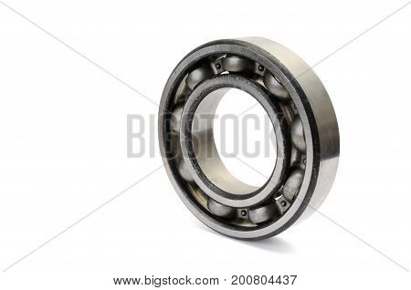 a ball bearing, isolated over white background
