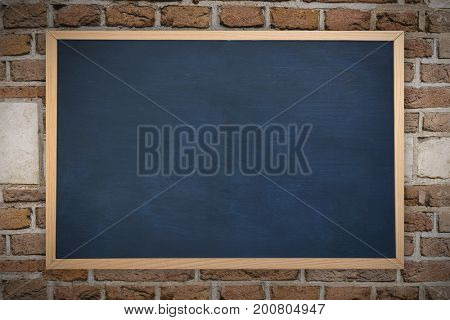 Image of ac chalkboard against image of a wall