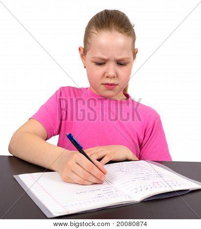 The Girl Does Homework