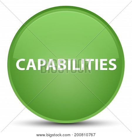 Capabilities Special Soft Green Round Button