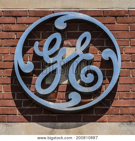 Ft. Wayne - Circa August 2017: General Electric Factory. GE divisions include aviation energy healthcare and lighting