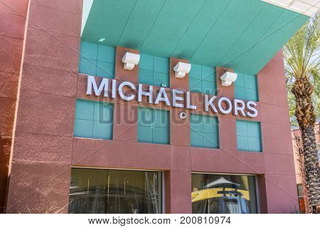 Las Vegas - Circa July 2017: Michael Kors Retail Store. Kors Offers Classic Clothing Handbags & Accessories