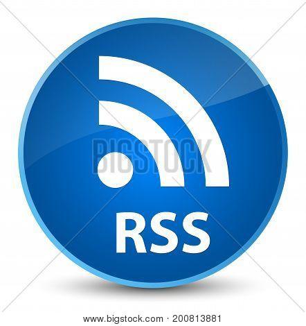 Rss Elegant Blue Round Button