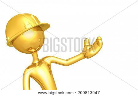 Construction Worker The Original 3D Character Illustration