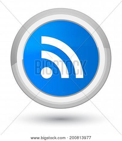 Rss Icon Prime Cyan Blue Round Button