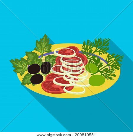 Vegetable salad. Food and cooking single icon in flat style vector symbol stock illustration .