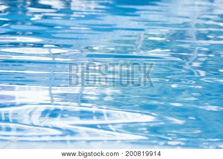 blue water surface in a swimming pool