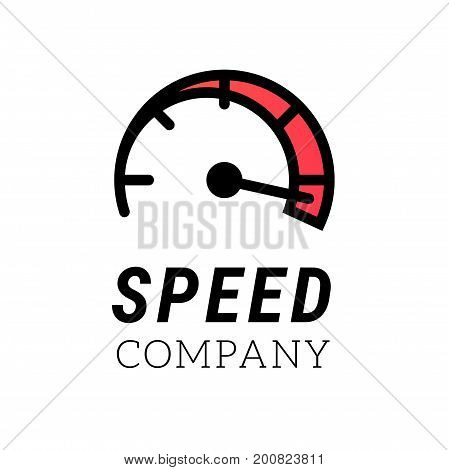 Vector speed logo template. Car speedometer symbol. Modern concept for network or car speed
