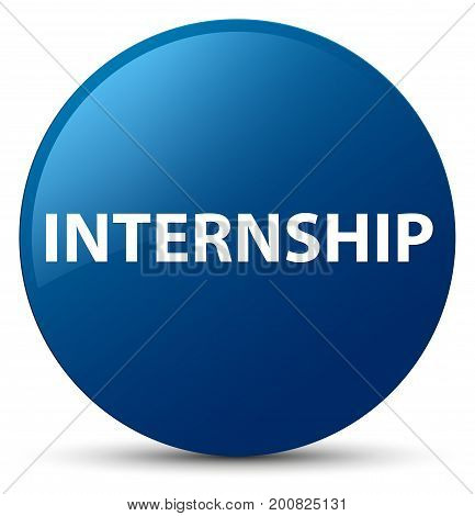 Internship Blue Round Button