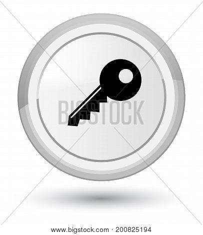 Key Icon Prime White Round Button