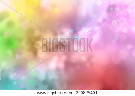 Assorted color circles abstract blurred background.