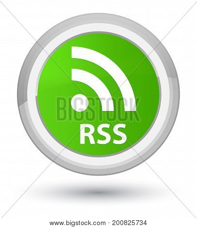 Rss Prime Soft Green Round Button