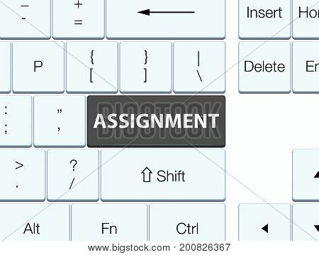 Assignment Black Keyboard Button