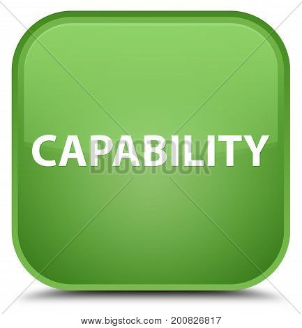 Capability Special Soft Green Square Button