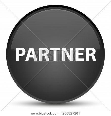 Partner Special Black Round Button