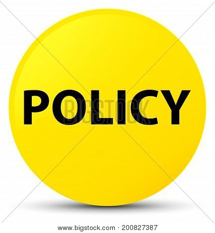 Policy Yellow Round Button