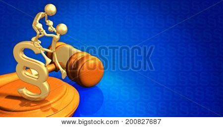 Law Help The Original 3D Characters Illustration