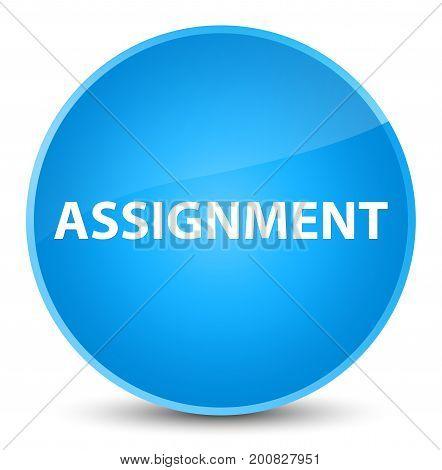 Assignment Elegant Cyan Blue Round Button