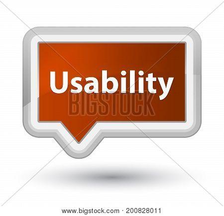 Usability Prime Brown Banner Button