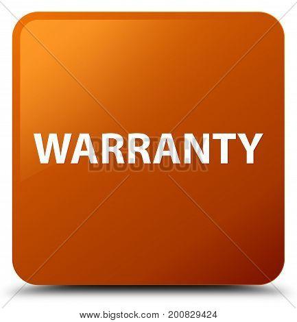 Warranty Brown Square Button